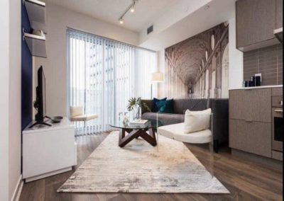 A very stylish fully furnished Harbourfront condo for a newcomer to the city