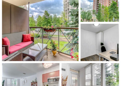 Sold: North York 1+den condo with a serene balcony